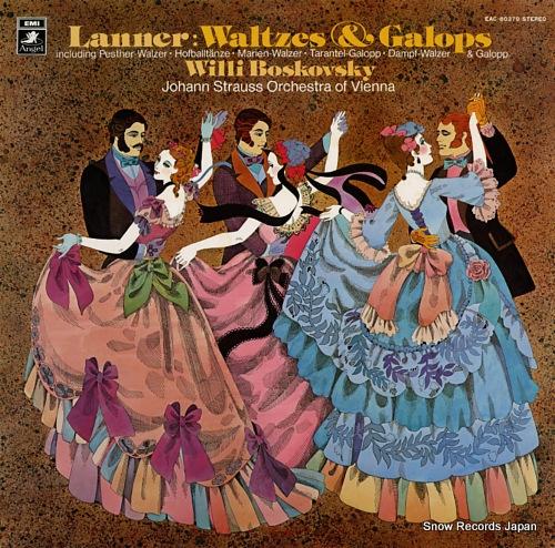 BOSKOVSKY, WILLI lanner; waltzes & galops EAC-80379 - front cover