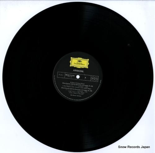 DIE WIENNER SOLISTEN mozart; divertimenti k.155, k.156, k.159, k.160 MGW5194 - disc