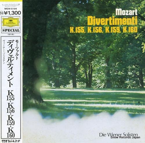 DIE WIENNER SOLISTEN mozart; divertimenti k.155, k.156, k.159, k.160 MGW5194 - front cover