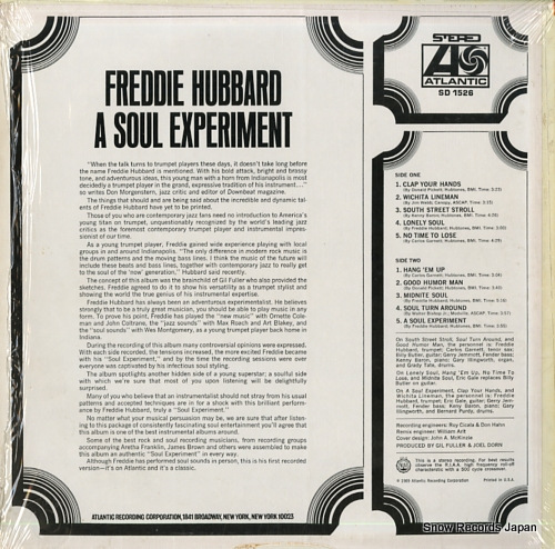 HUBBARD, FREDDIE a soul experiment SD1526 - back cover