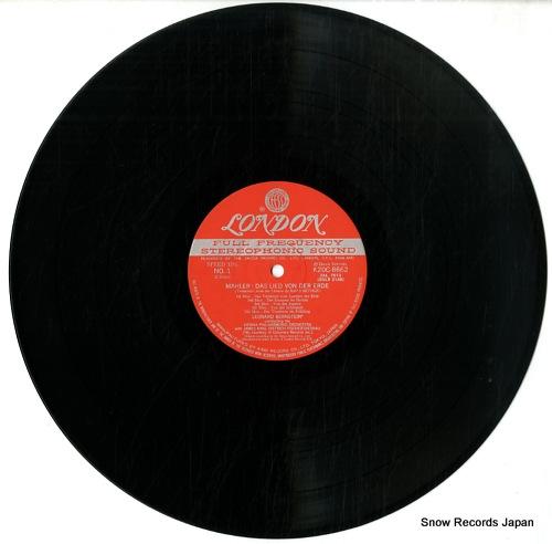 BERNSTEIN, LEONARD mahler; das lied von der erde K20C8662 - disc