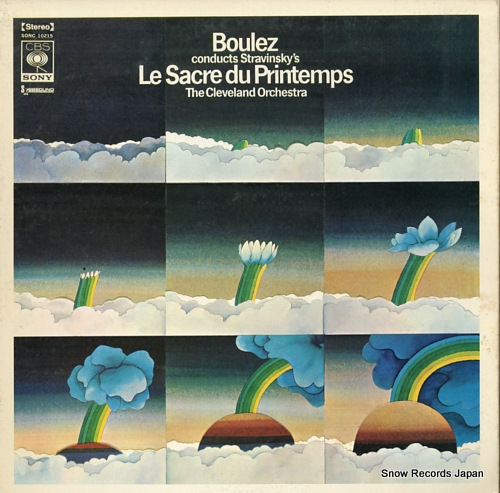 BOULEZ, PIERRE stravinsky; le sacre du printemps SONC10215 - front cover