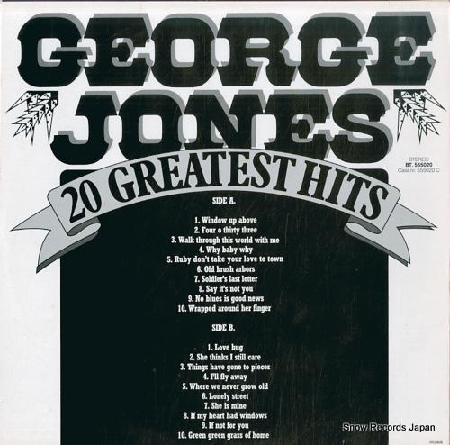 JONES, GEORGE 20 greatest hits BT555020 - back cover