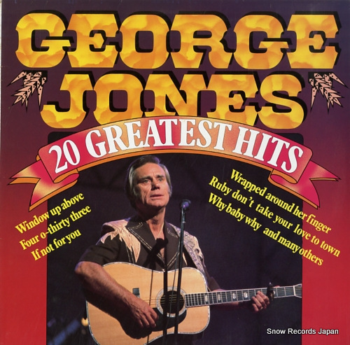 JONES, GEORGE 20 greatest hits BT555020 - front cover
