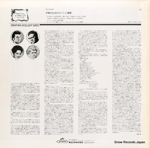 SCHREIER, PETER mozart; 6 trios buffes inedits EAC-30349 - back cover