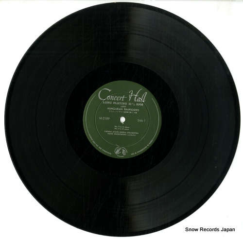 SWAROWSKY, HANS liszt; hungarian rhapsodies no1.2.3.6 M-2189 - disc