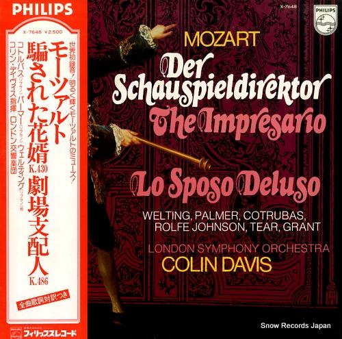 DAVIS, COLIN mozart; der schauspieldirektor X-7648 - front cover