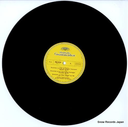 KARAJAN, HERBERT VON beethoven; overtures MG2436 - disc