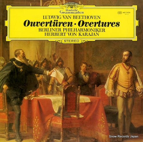 KARAJAN, HERBERT VON beethoven; overtures MG2436 - front cover