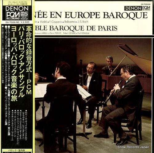 ENSEMBLE BAROQUE DE PARIS tournee en europe baroque OX-7026-ND - front cover