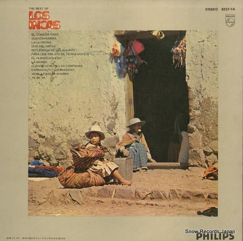 LOS INCAS the best of los incas BEST-14 - back cover