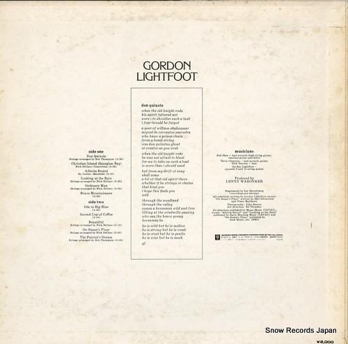LIGHTFOOT, GORDON don quixote P-8232R - back cover