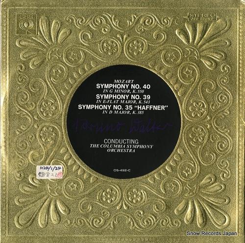 WALTER, BRUNO mozart; symphony no.40, 39 & 35