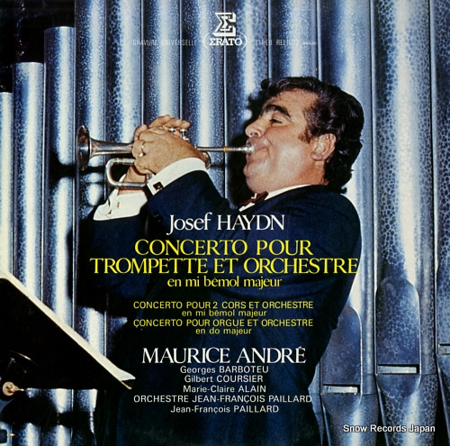 ANDRE, MAURICE josef haydn; concerto pour trompette et orchestre REL1013 - front cover