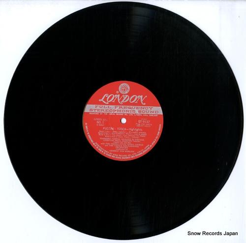 KARAJAN, HERBERT VON puccini; tosca-hightlights GT9137 - disc