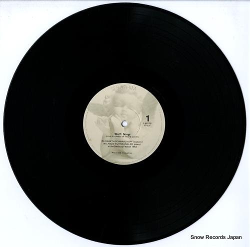 FURTWANGLER, WILHELM salzburg festival 1953 wolf songs SERAPHIM60179 - disc