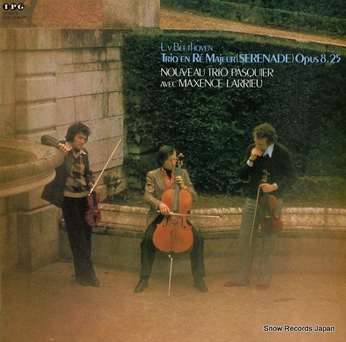 NOUVEAU TRIO PASQUIER beethoven; trio en re majeur (serenade) opus 8.25 KUX-3146-PG - front cover