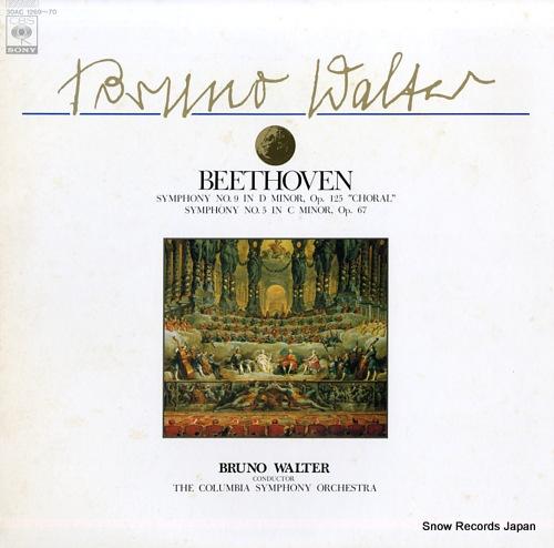 WALTER, BRUNO beethoven; symphony no.9 in d minor