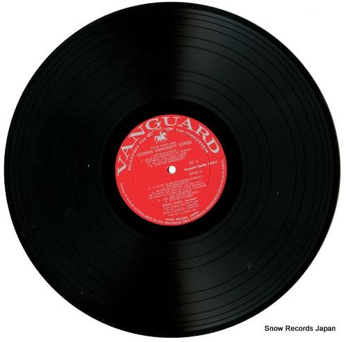 KUNZ, ERICH sings german university songs VY3 - disc