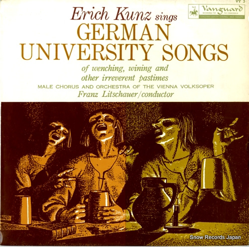 KUNZ, ERICH sings german university songs VY3 - front cover