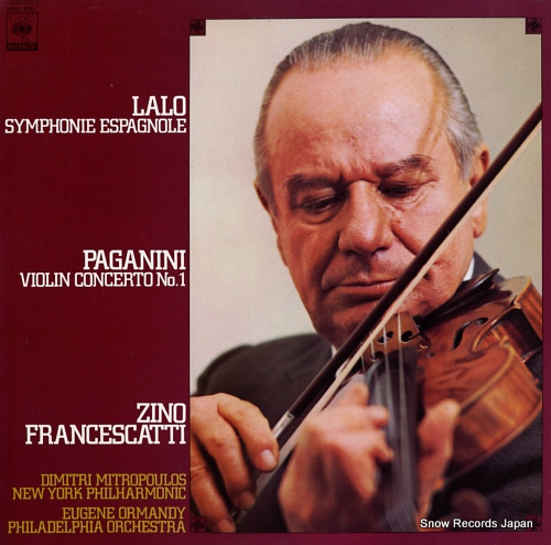 FRANCESCATTI, ZINO lalo; symphonie espagnole 20AC1518 - front cover