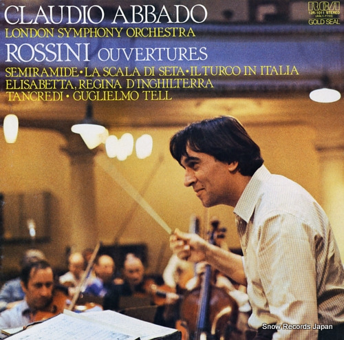 ABBADO, CLAUDIO rossini; ouvertures 12R-1011 - front cover