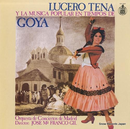 TENA, LUCERO y la musica poplar en tiempos de goya VIC-2221 - front cover