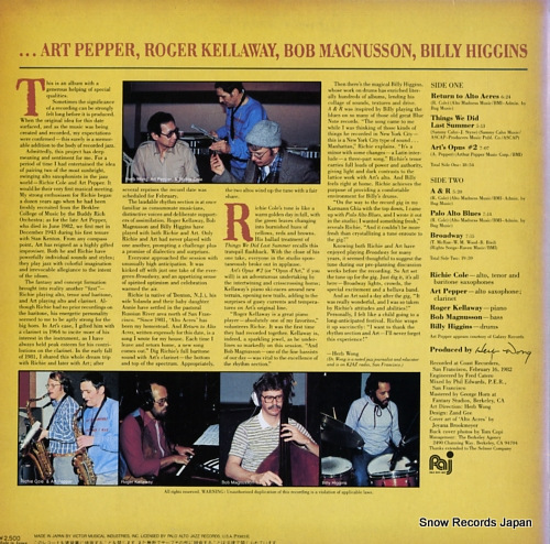 COLE, RICHIE richie cole and ... VIJ-6397 - back cover