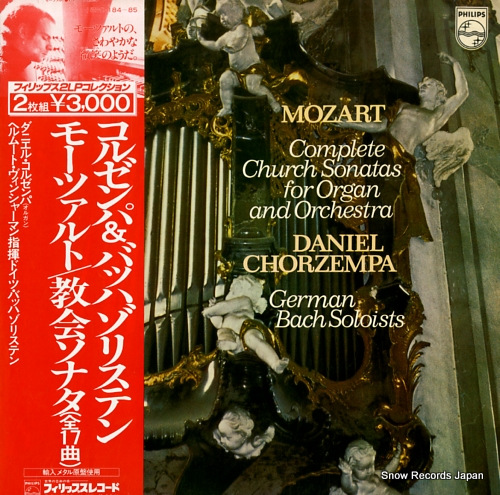 CHORZEMPA, DANIEL mozart; complete church sonatas for organ and orchestra 15PC184-85 - front cover