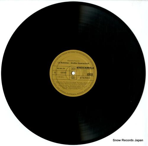 GROBER QUERSCHNITT puccini; la boheme 80005ZR - disc