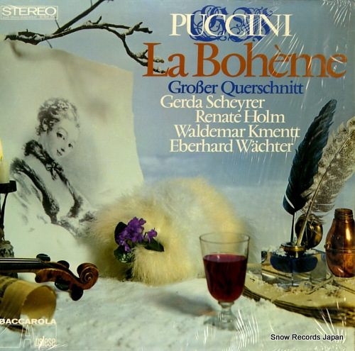 GROBER QUERSCHNITT puccini; la boheme 80005ZR - front cover