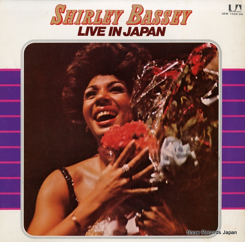 BASSEY, SHIRLEY live in japan GEM1025/26 - front cover