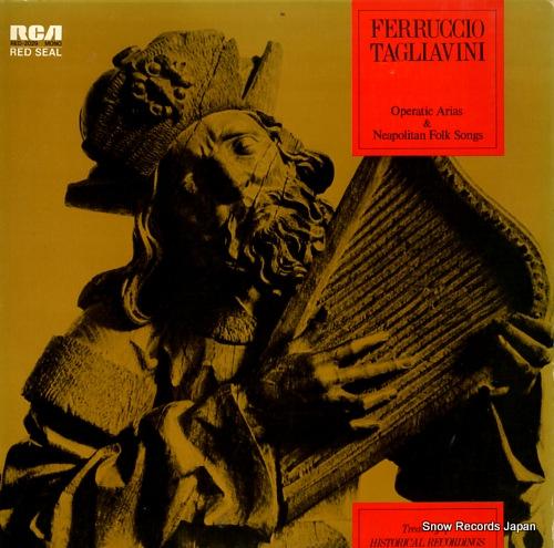 TAGLIAVINI, FERRUCCIO operatic arias & neapolitan folk songs RED-2029 - front cover