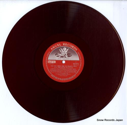 SCHWARZKOPF, ELISABETH hugo wolf; songs from the romantic poets AA.8078 - disc