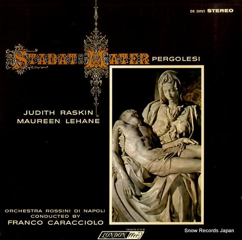 ユーディス・ラスキン&モーリン・レハーン ペルゴレージ:悲しみの聖母(スターバト・マーテル) OS-25921