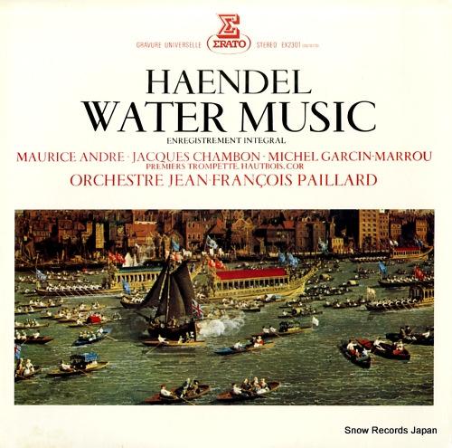PAILLARD, JEAN-FRANCOIS haendel; water music EX-2301 - front cover