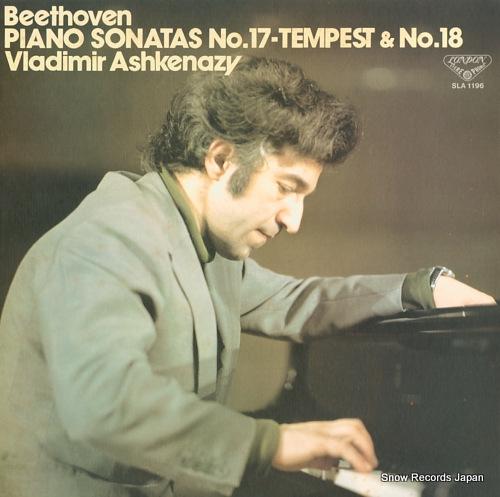 ASHKENAZY, VLADIMIR beethoven; piano sonatas no.17 in d minor, op.31 no.2