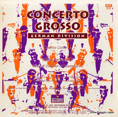 GERMAN DIVISION concerto grosso ROT013 - back cover