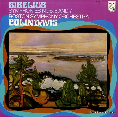 コリン・デイヴィス シベリウス:交響曲第5番&7番 X-7554