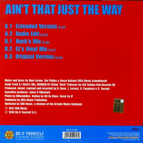 MCNEAL, LUTRICIA ain't that just the way DOIT07-98 - back cover