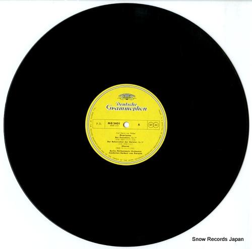 KARAJAN, HERBERT VON weber; overtures MG2401 - disc