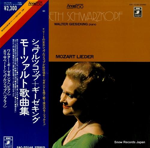 SCHWARZKOPF, ELISABETH mozart lieder EAC-70168 - front cover